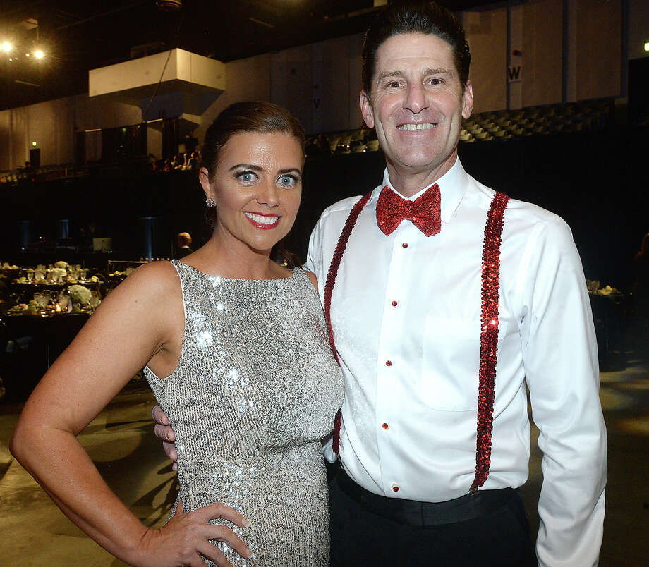Annie Tyner and Slate Babineaux were at the Junior League of Beaumont's annual Dancing with the Stars show and fundraiser Friday at the Civic Center. Ten couples took the stage to entertain and earn audience votes with their unique dance routines.  Photo taken Friday, March 1, 2019 Kim Brent/The Enterprise Photo: Kim Brent/The Enterprise