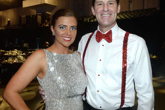 Annie Tyner and Slate Babineaux were at the Junior League of Beaumont's annual Dancing with the Stars show and fundraiser Friday at the Civic Center. Ten couples took the stage to entertain and earn audience votes with their unique dance routines.  Photo taken Friday, March 1, 2019 Kim Brent/The Enterprise
