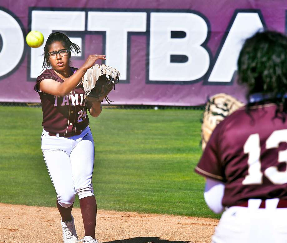 Melanie had one of TAMIU's two hits Saturday as the Dustdevils were shut out 11-0 in five innings in their series finale at Oklahoma Christian. Photo: Cuate Santos /Laredo Morning Times File / Laredo Morning Times