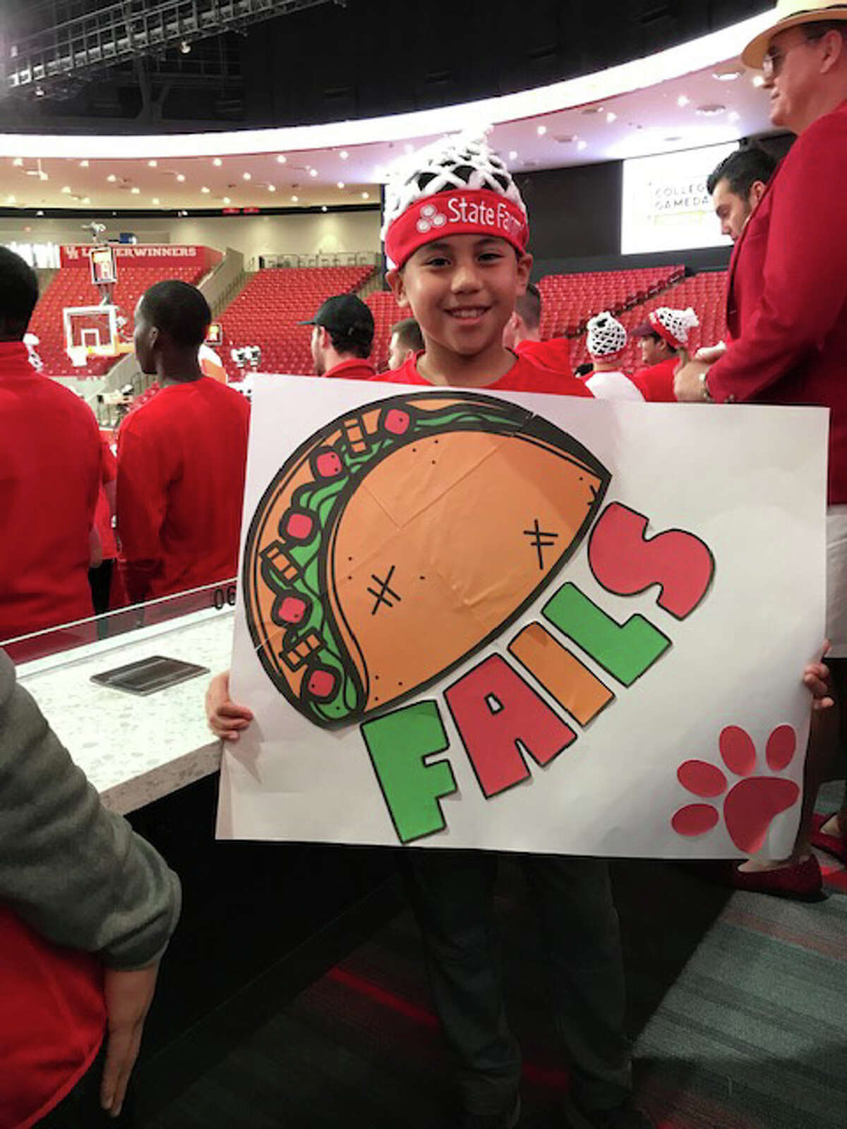 Houston fans show off their clever signs before Saturday's tipoff against Central Florida. ESPN College GameDay, the popular pregame college basketball show, made its first visit to the redesigned Fertitta Center on Saturday, March 2, 2019.