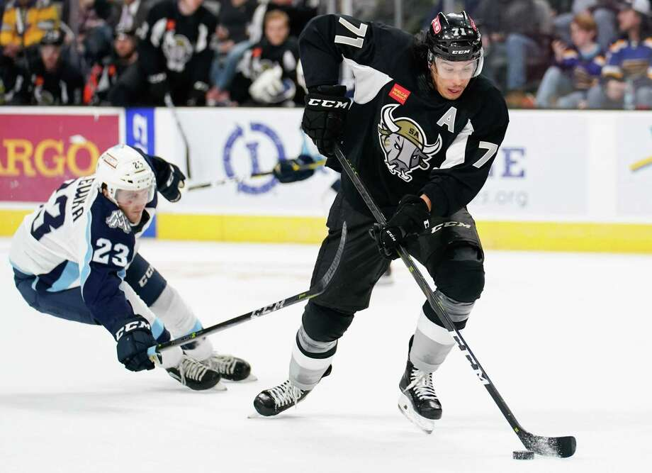 The Milwaukee Admirals play the San Antonio Rampage during the first period of an AHL hockey game, Friday, March 1, 2019, in San Antonio. (Darren Abate/AHL) Photo: Darren Abate, FRE / Darren Abate/AHL / Darren Abate Media, LLC/AHL/San Antonio Rampage