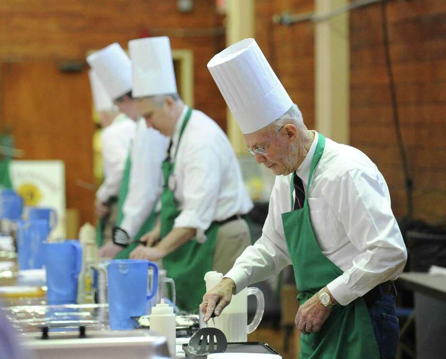 The Lions Club annual pancake breakfast, seen here in 2018, has been a Greenwich tradition for nearly 60 years. And it will return to the Eastern Greenwich Civic Center on March 9. Photo: File / Hearst Connecticut Media / Greenwich Time
