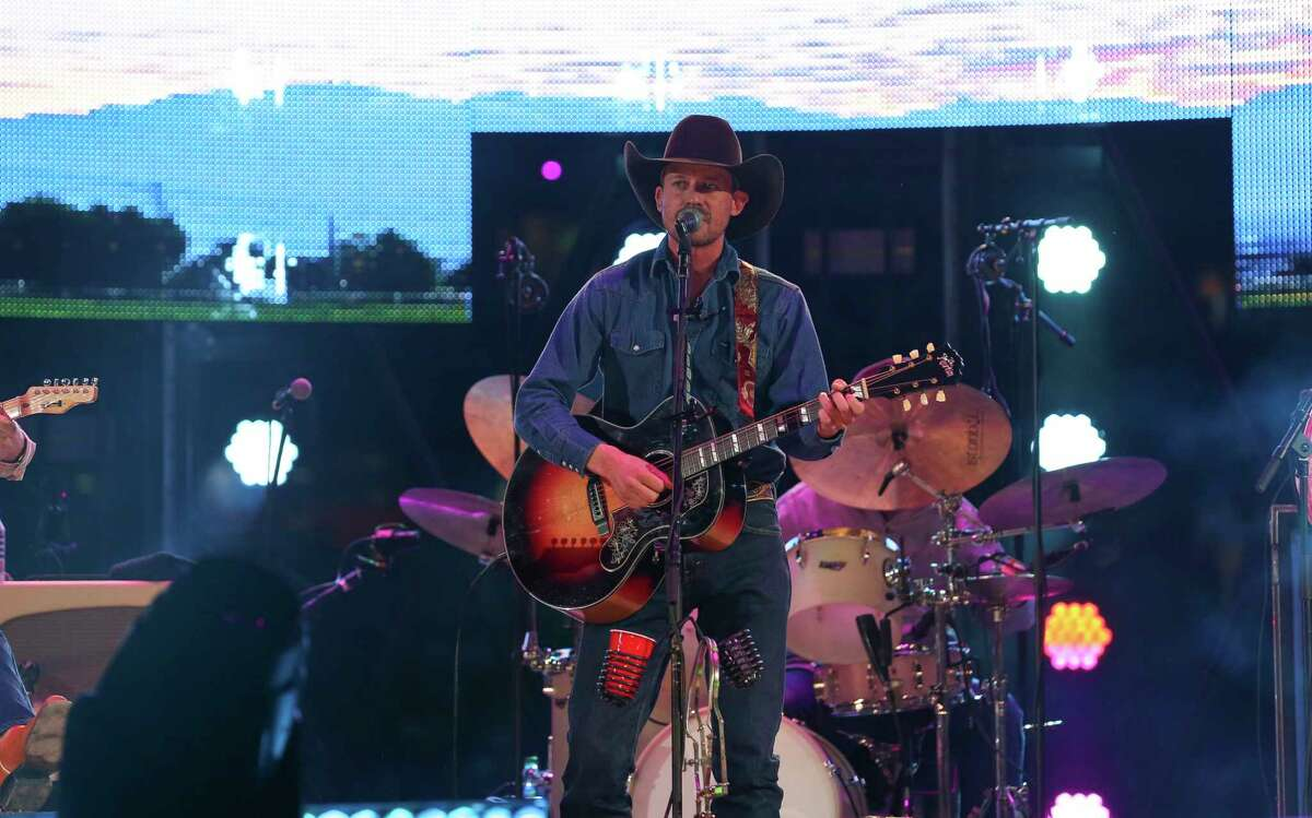 Turnpike Troubadours lead singer and guitarist Evan Felker performs at the Houston Livestock Show and Rodeo at NRG Stadium on Saturday, March 2, 2019, in Houston.