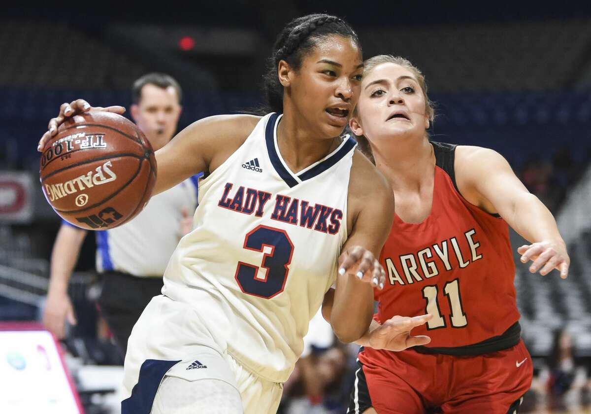Hardin-Jefferson's Ashlon Jackson has been selected to the 2019 girls'basketball Super Gold first team. Photo taken on Saturday, 03/02/19. Ryan Welch/The Enterprise