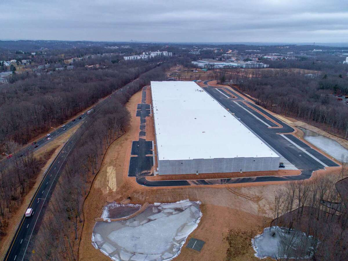A 403,000-square-foot warehouse currently under construction off of Interstate 91 in Cromwell. The warehouse is being built on speculation, with no tenant already in place. The project is being developed by Indiana-based developer Scannell Properties.