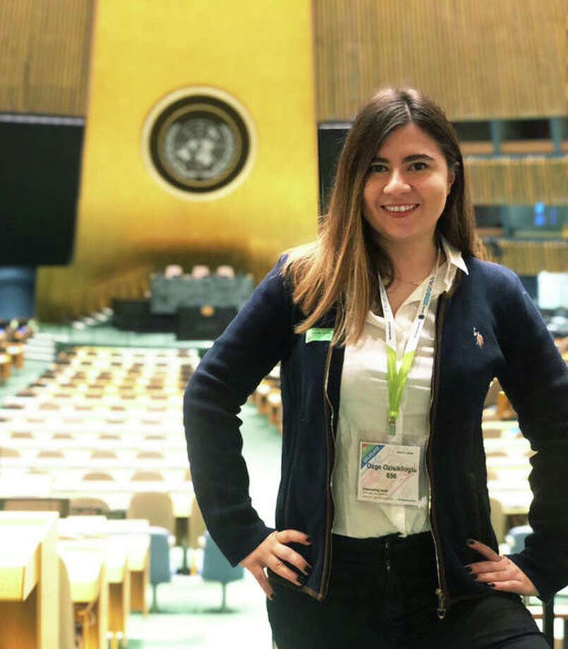 SIUE School of Engineering's Ozge Ozisiklioglu, a sophomore in the ITU/SIUE Dual Degree program visited New York University and the United Nation headquarters through the Youth Assembly program organized by the Friendship Ambassadors Foundation. Photo: For The Telegraph