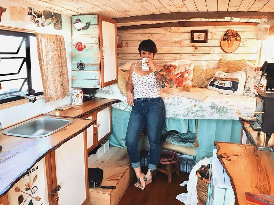 Single mom transforms Canadian fire van into chic tiny home