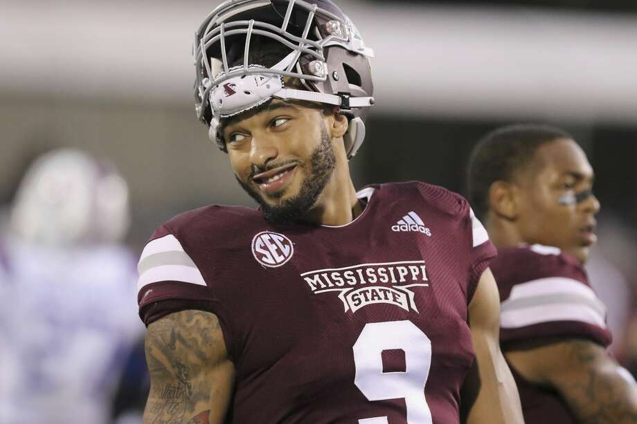 Mississippi State defensive end Montez Sweat (9) smiles while resting during warm-up drills before their NCAA college football game against Louisiana Tech on Saturday, Nov. 3, 2018, in Starkville, Miss. (AP Photo/Jim Lytle) Photo: Jim Lytle/AP