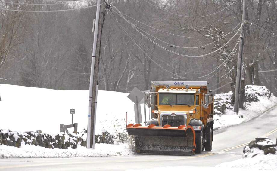 A City of Danbury plow truck. Saturday, March 2, 2019, in Danbury, Conn. Photo: H John Voorhees III / Hearst Connecticut Media / The News-Times