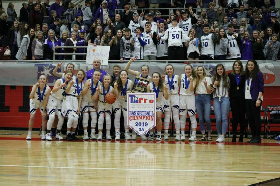 The MCA girls basketball team defeatedBeaumont Legacy Christian, 72-47,in theTAPPS 3A state championship Saturday morning at West High School. Photo: Karen Sparks, Kelli Kirk