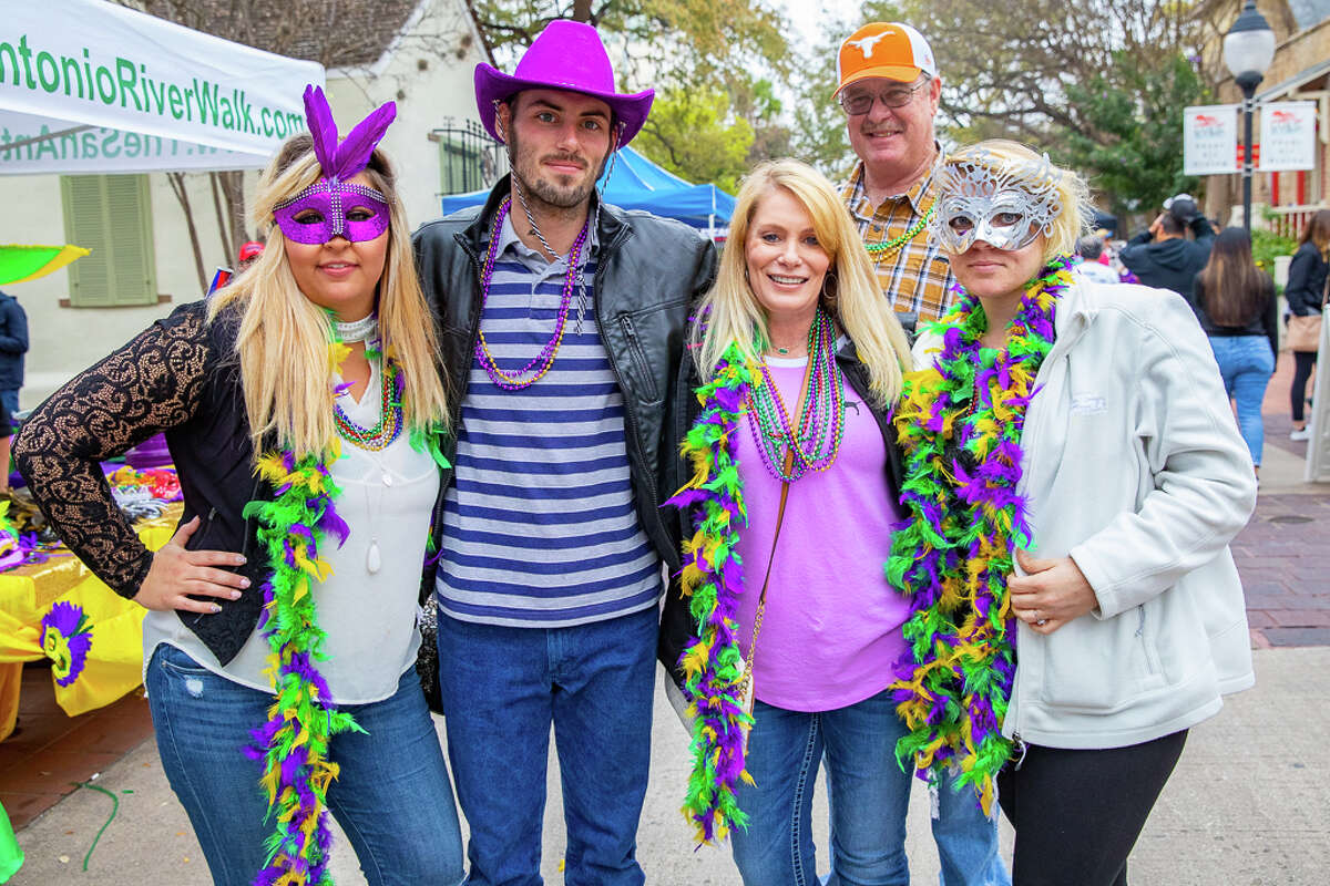 New Orleans came to San Antonio when a procession of decorated river floats transformed the River Walk on Saturday, March 2.