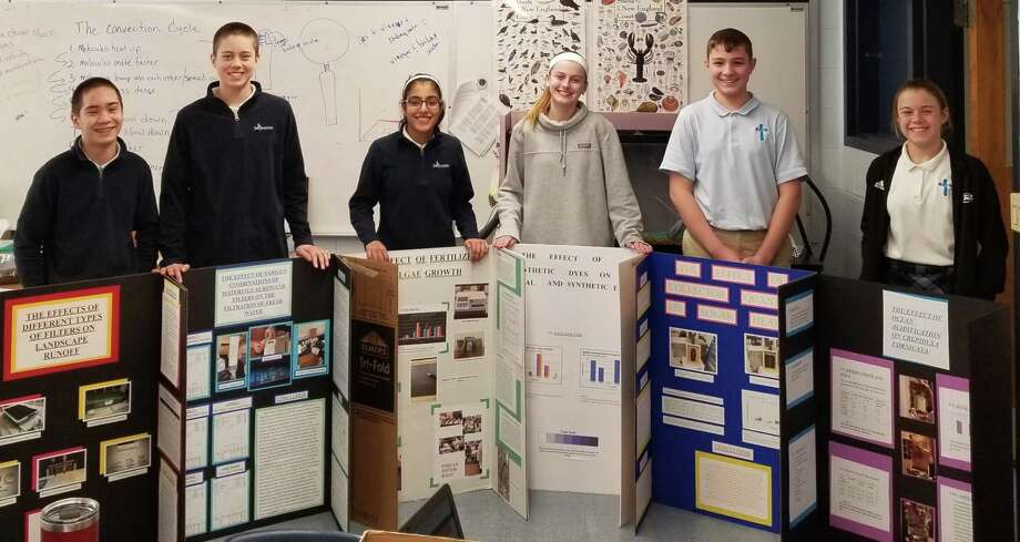 Six students from St. Joseph Catholic Academy have been accepted to participate in the 2019 Annual Connecticut Science and Engineering Fair on March 11. Photo: / Contributed Photo