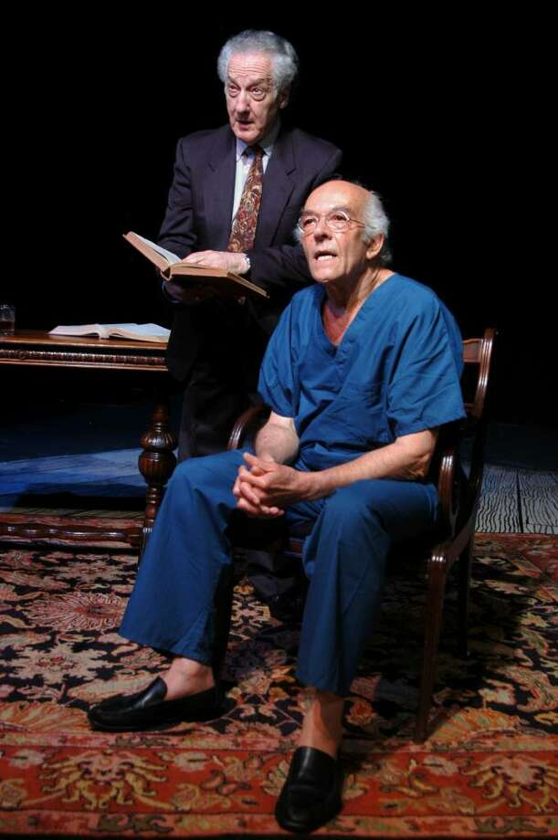 "Howard Green and Mark Margolis in Stageworks/Hudson's production of ""Imagining Madoff"" (Rob Shannon)"