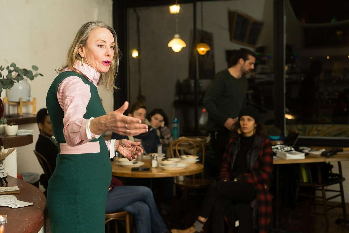 Vallie Brown, the supervisor of district five, speaks to supporters at Mercury Cafe in San Francisco, Calif. on Friday, Feb. 22, 2019.