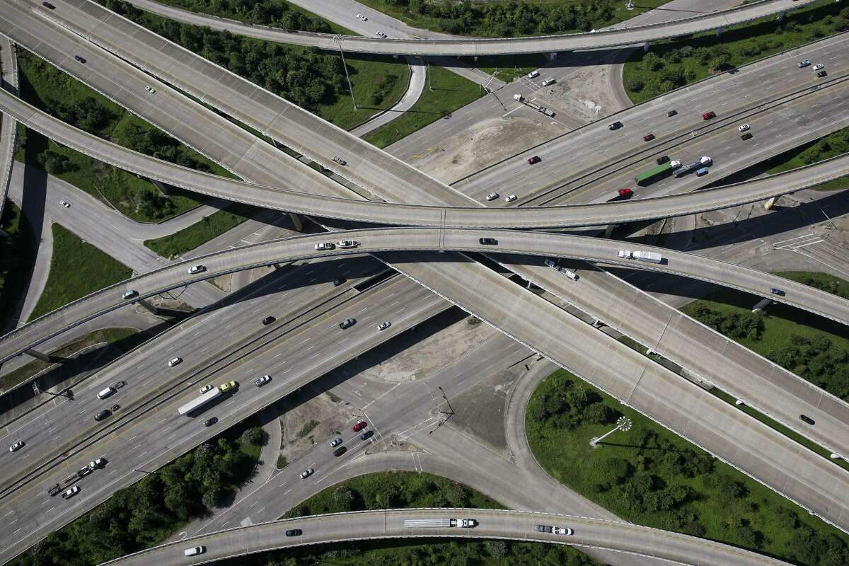 Aerial view of the intersection of the Sam Houston Tollway and I-10 Wednesday, September 7, 2016. ( Michael Ciaglo / Houston Chronicle )