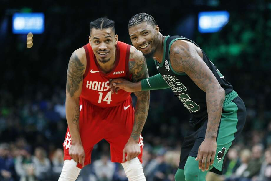PHOTOS: Former Texas high school basketball stars in this year's NBA playoffs The Rockets' Gerald Green was a high school basketball star in Houston, and the Celtics' Marcus Smart was a top recruit out of Flower Mound Marcus High School. Browse through teh photos above for a look at former Texas high school basketball stars in this year's NBA playoffs ... Photo: Michael Dwyer/Associated Press