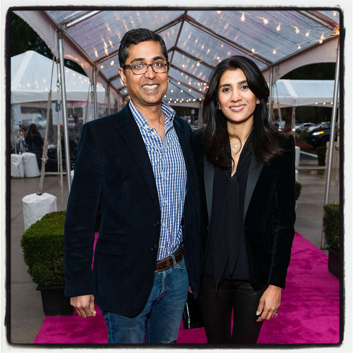 Ravin and Alka Agrawal at Under One Umbrella fundraiser. Feb. 27, 2019.