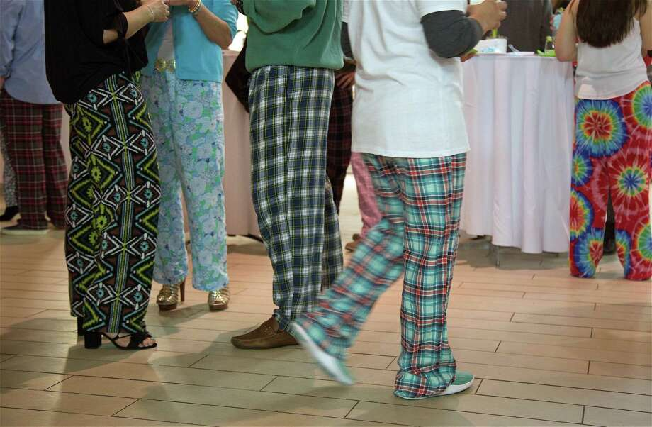 """Invitations called for """"Pajama Chic"""" at the kickoff party for Rach's Hope at the Penfield Pavilion, Saturday, Mar. 2, 2019, in Fairfield, Conn. Photo: Jarret Liotta / For Hearst Connecticut Media / Fairfield Citizen News Freelance"""