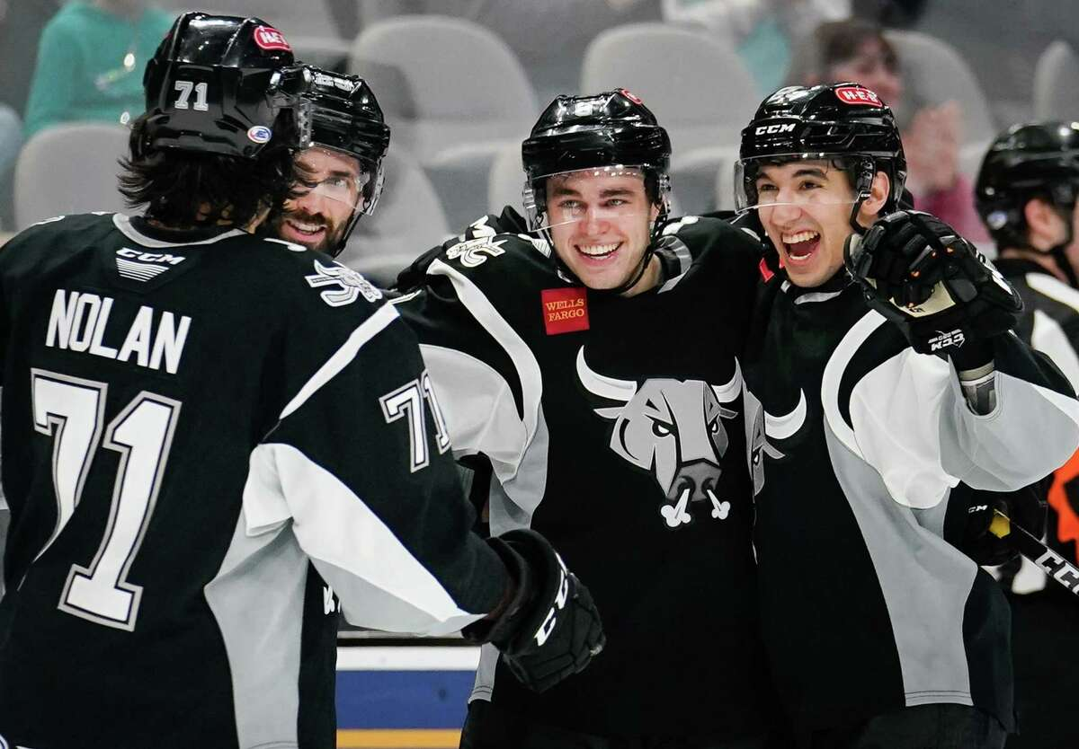 The Milwaukee Admirals play the San Antonio Rampage during the third period of an AHL hockey game, Sunday, March 3, 2019, in San Antonio. San Antonio won 5-4 in overtime. (Darren Abate/AHL)