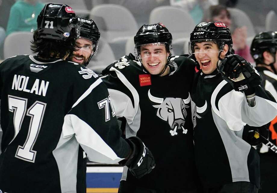 The Milwaukee Admirals play the San Antonio Rampage during the third period of an AHL hockey game, Sunday, March 3, 2019, in San Antonio. San Antonio won 5-4 in overtime. (Darren Abate/AHL) Photo: Darren Abate, FRE / Darren Abate/AHL / Darren Abate Media, LLC/AHL/San Antonio Rampage
