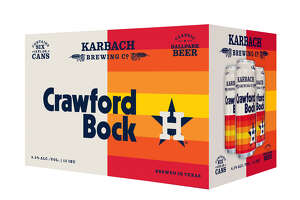 Crawford Bock, brewed by Karbach in partnership with the Houston Astros, hits shelves on Monday, March 4.