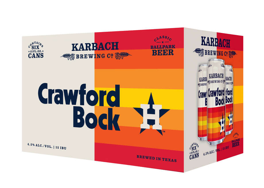 Crawford Bock, brewed by Karbach in partnership with the Houston Astros, hits shelves on Monday, March 4. Photo: Contributed Photo/Karbach