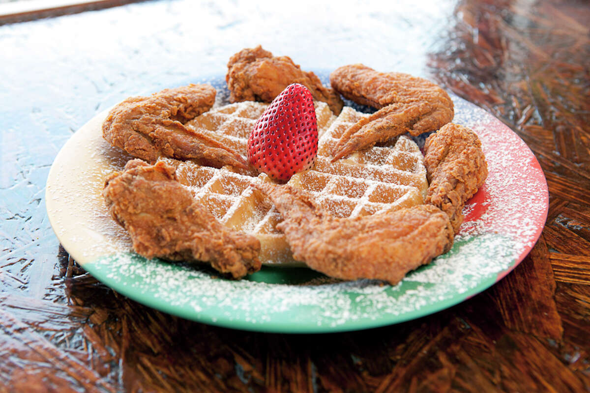 Wings and waffle at The Breakfast Klub at