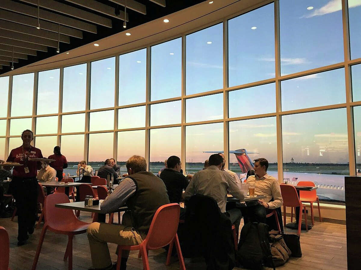 """USA Today has awarded TBK, the George Bush Intercontinental Airport location of The Breakfast Klub in Midtown, the title of """"Best Local/Regional Airport Dining"""" in its annual 10 Best Readers' Choice 2018 awards. >>> Click through to see more on TBK at George Bush Intercontinental Airport."""