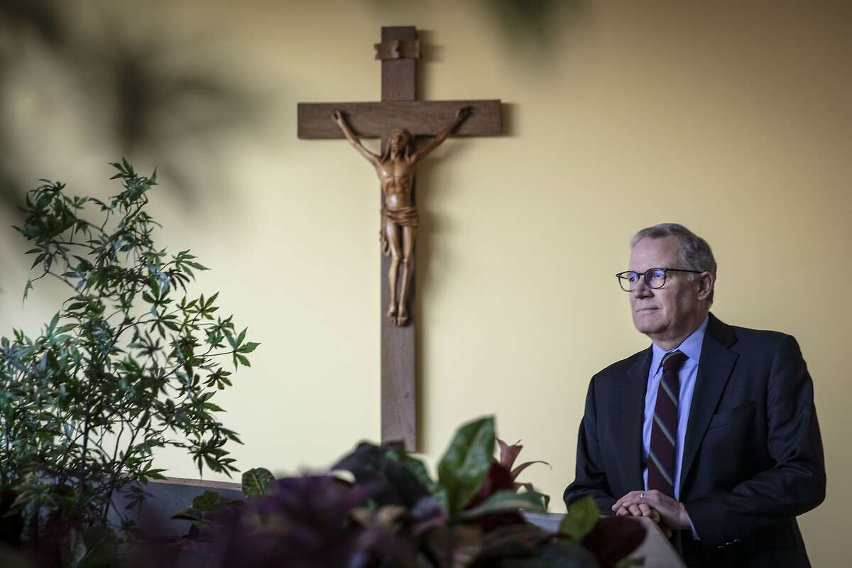 Stephan Wilcox, Chancellor of the Oakland Catholic diocese, released the names of priests, decons and religious brothers credibly accused of sexual abuse of a minor at the Oakland Catholic diocese in Oakland, California, USA 17 Feb 2019.