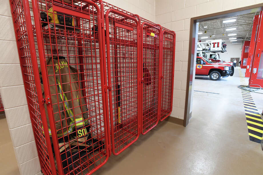 Bunker gear room near the firetrucks at Beaumont's new Station #1 located behind Babe Zaharias Park. Photo taken Tuesday, 2/26/19 Photo: Guiseppe Barranco/The Enterprise / Guiseppe Barranco ©