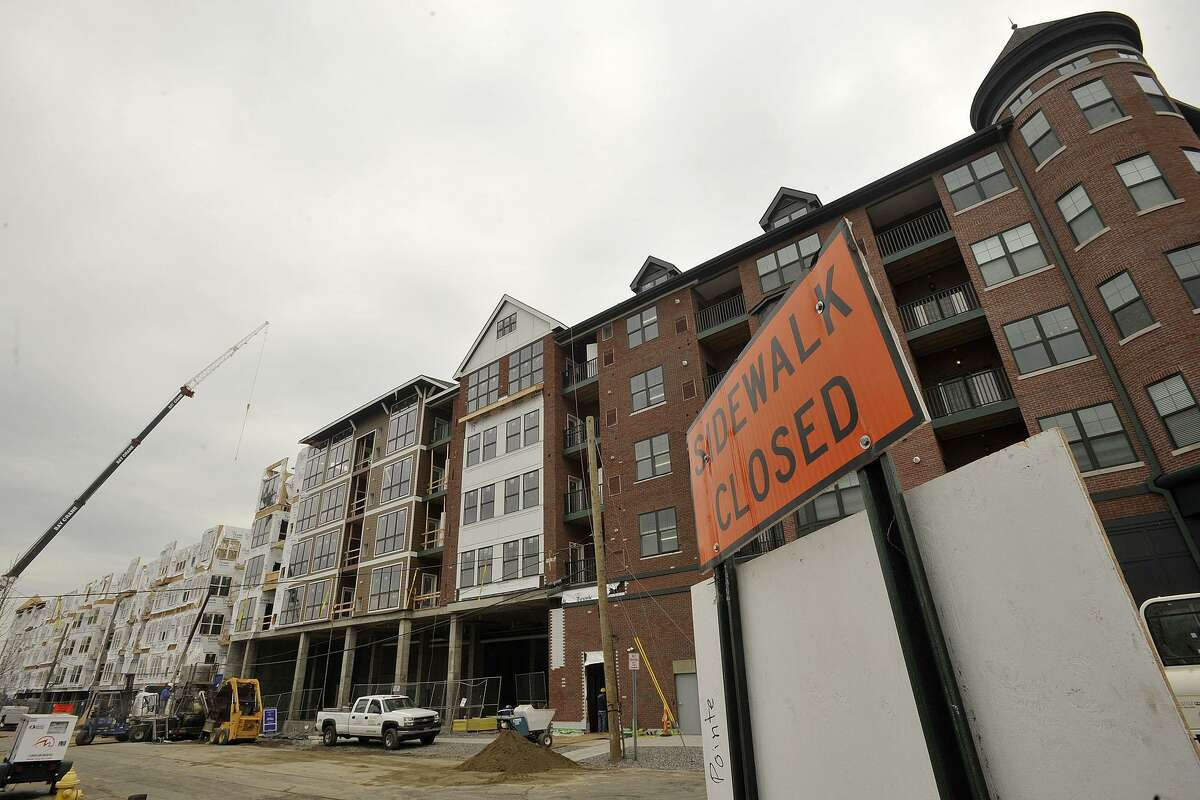 Construction in 2014 of the Waypointe development in Norwalk, Conn., led by Greenwich-based Belpointe Capital.