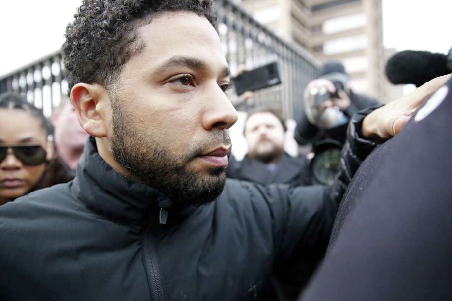 """Empire"" actor Jussie Smollett leaves Cook County jail after posting bond on Feb. 21, 2019 in Chicago, Illinois. Smollett has been accused with arranging a homophobic, racist attack against himself in an attempt to raise his profile because he was dissatisfied with his salary. Photo: Nuccio DiNuzzo / Getty Images / 2019 Getty Images"