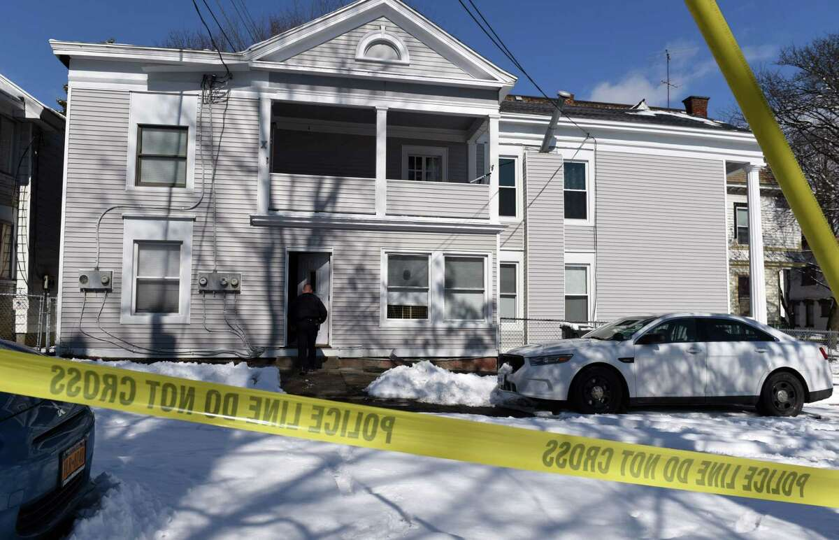 Scene of a weekend homicide at 268 Remsen Street on Monday, March 4, 2019, in Cohoes, N.Y. Police have charged Andrew Lathrop, 23, in the death of Sara Pascale, 31. Pascale was found stabbed to death when police arrived at the scene on Sunday morning. (Will Waldron/Times Union)