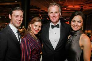 EMBARGOED FOR SOCIETY REPORTER UNTIL MARCH 5 David and Estela Cockrell, from left, with Webb and Christy Jennings at the Museum of Natural Science Gala.