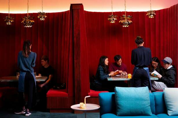 The Moongate Lounge on Saturday, March 2, 2019, in San Francisco, Calif. The lounge is located above above Mister Jiu's restaurant at 28 Waverly Pl.