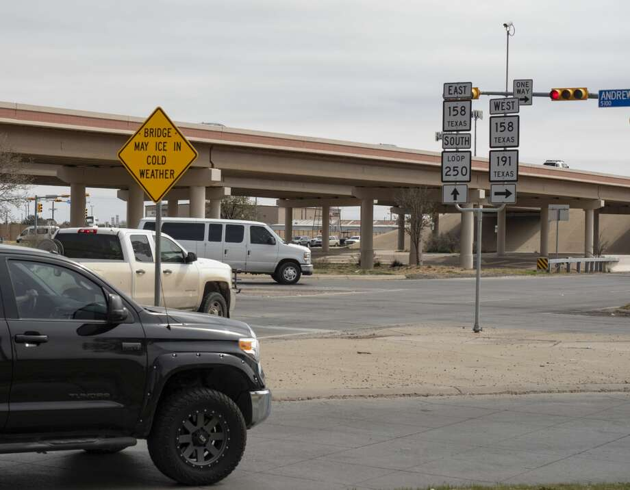 The intersection of Loop 250 and Andrews Highway, seen 03/04/2019, has the most crashes in Midland. Tim Fischer/Reporter-Telegram Photo: Tim Fischer
