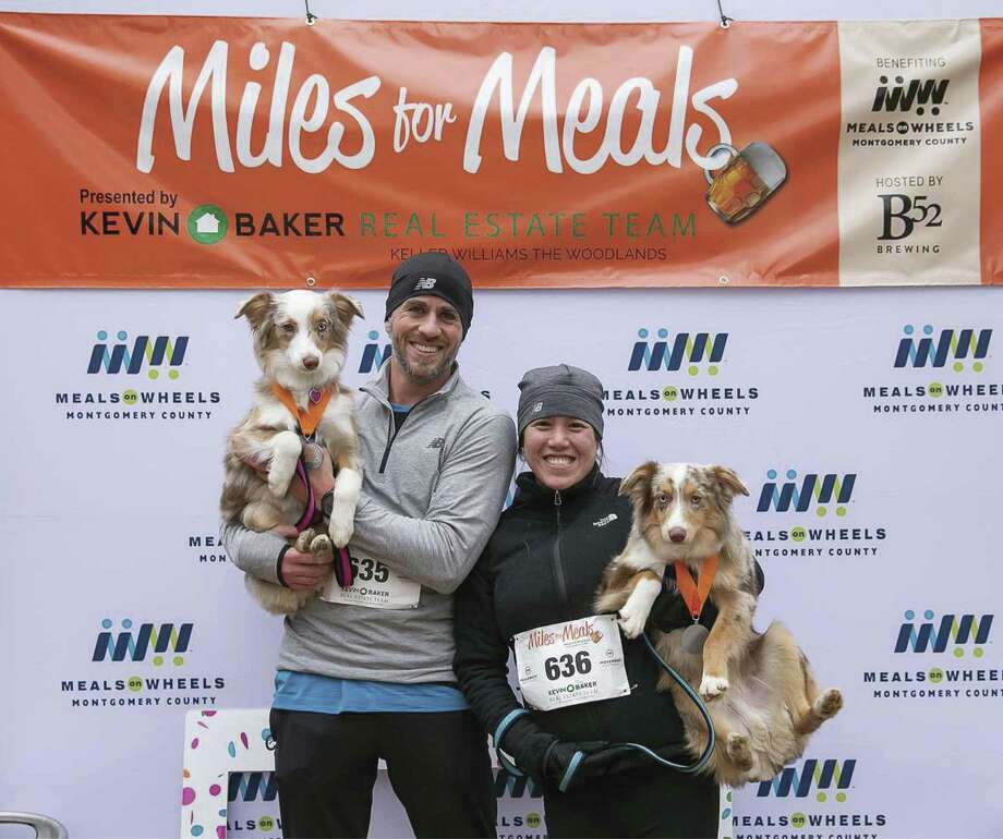 Some participants of the recent Miles for Meals run, walk brought their pups along for the event. The run, walk benefited Meals on Wheels of Montgomery County.