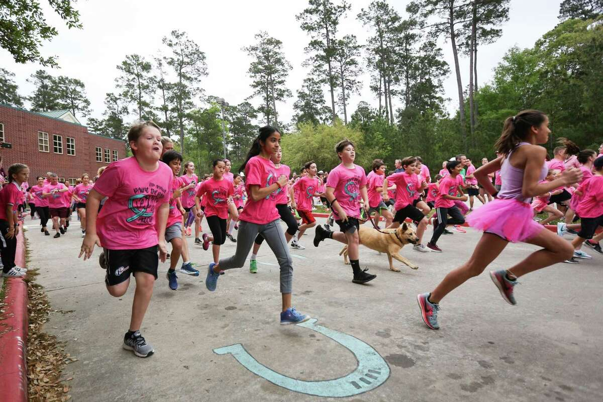 Runners in the 5K take off from the starting line during the Paint the Path Pink event on Saturday, March 24, 2018, at Mitchell Intermediate School. This year's event is to be March 30.
