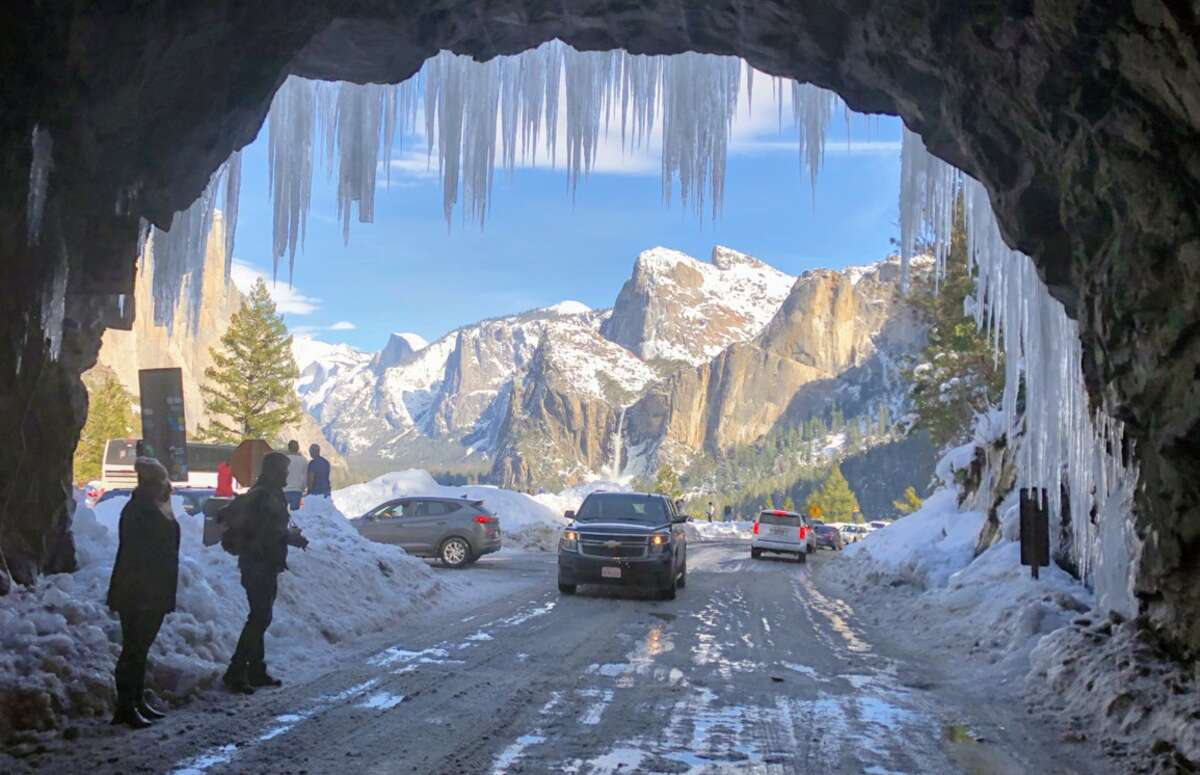 Road trip it It may seem counteractive, but some of the vantage points for the park that can be overrun during good weather might be less crowded and even more spectacular during winter conditions. Here, icicles surround Yosemite's famed tunnel view.