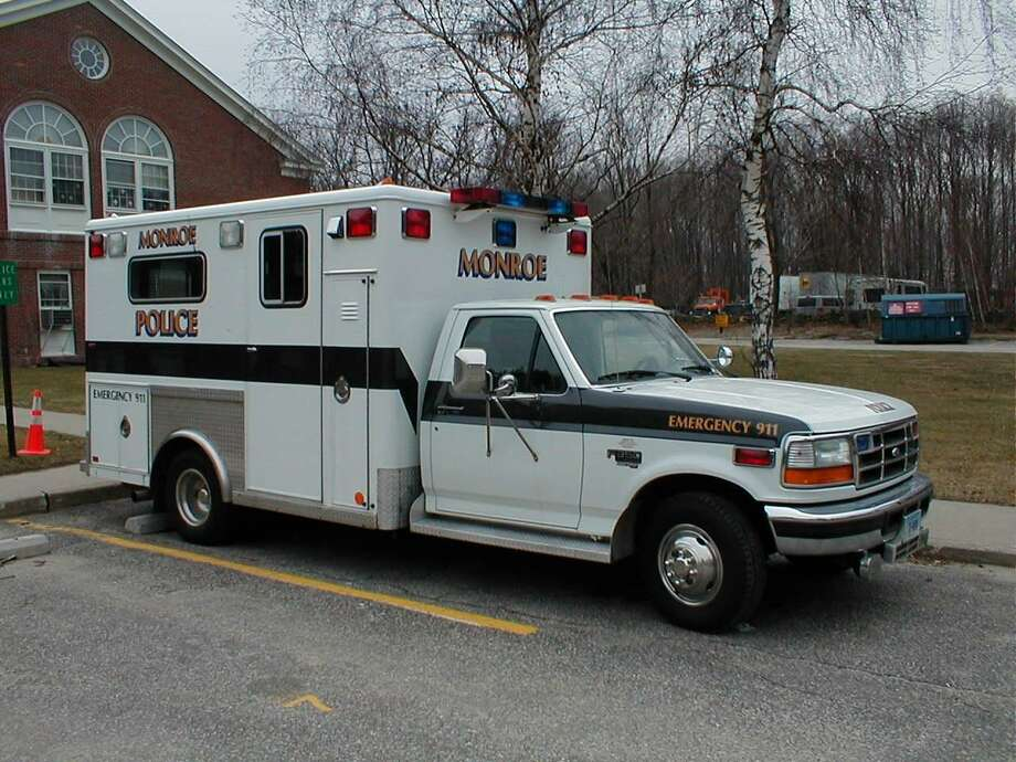 The town of Monroe is accepting bids for a new crime scene investigation vehicle for the town's police department. Pictured is the current crime scene investigation vehicle, a converted ambulance purchased in 1995. Photo: Contributed / Monroe Police Department