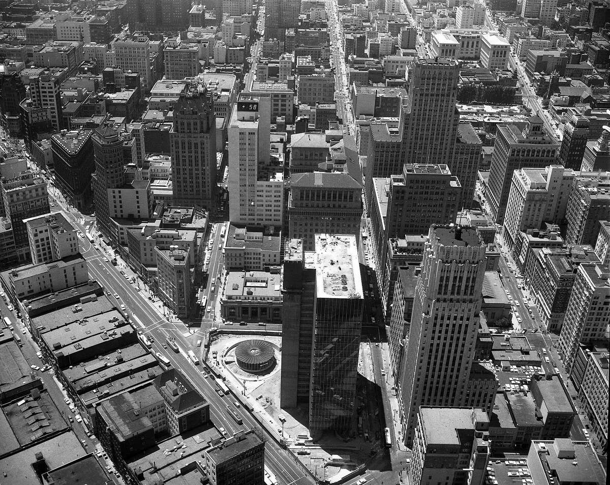 Aerial Photo of San Francisco, July 2, 1959 Looking down on Market Street