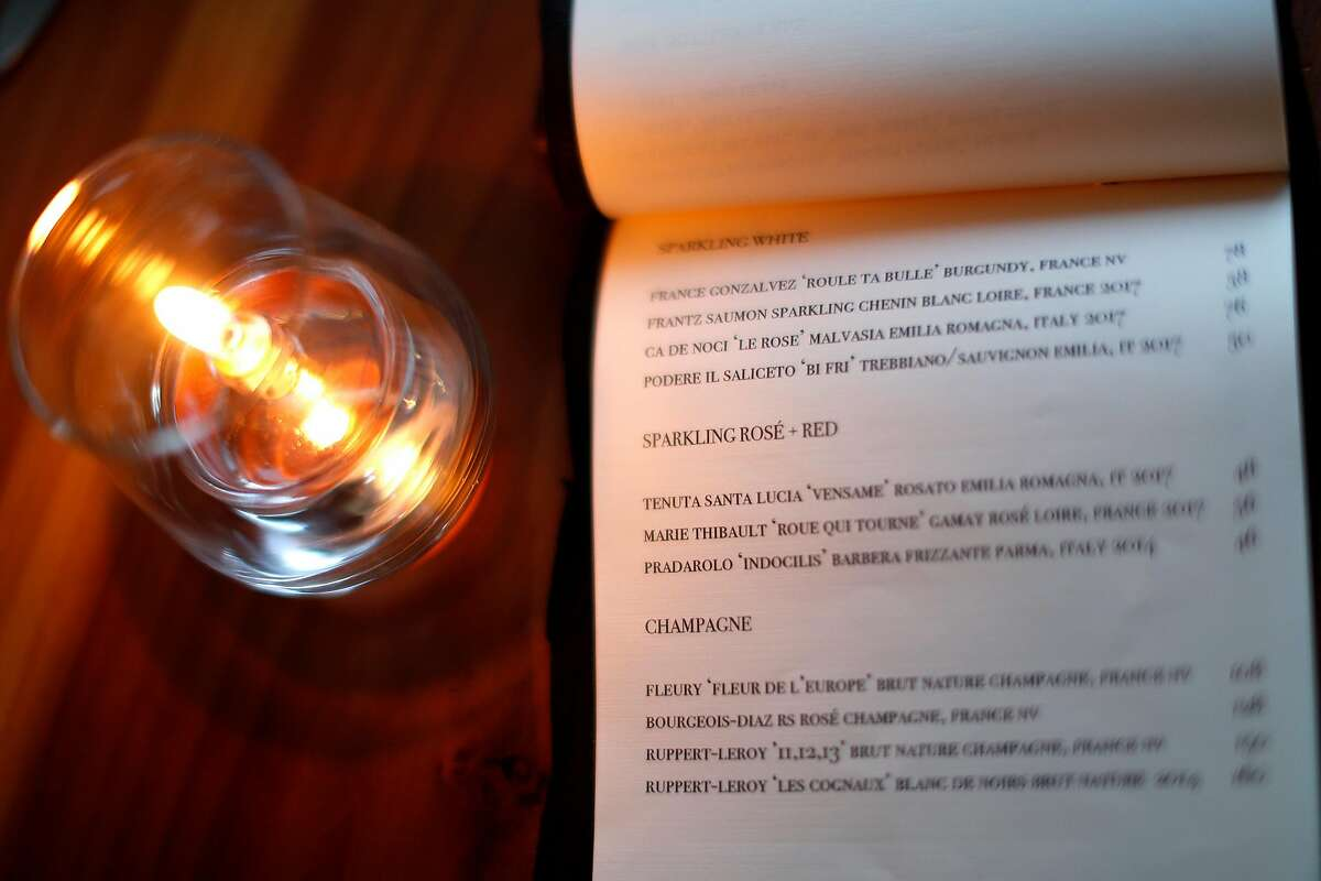 Wine list at Lord Stanley in San Francisco, Calif., on Wednesday, February 20, 2019.