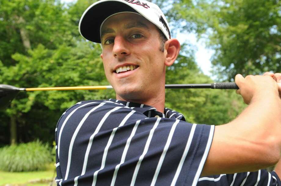 Danny Balin, an assistant teaching pro at Burning Tree Club, who is competing at a PGA championship in August, tuning up at the club for the New York State Open Championship and the PGA, on Tuesday, July 2010. Photo: Helen Neafsey, ST / Greenwich Time