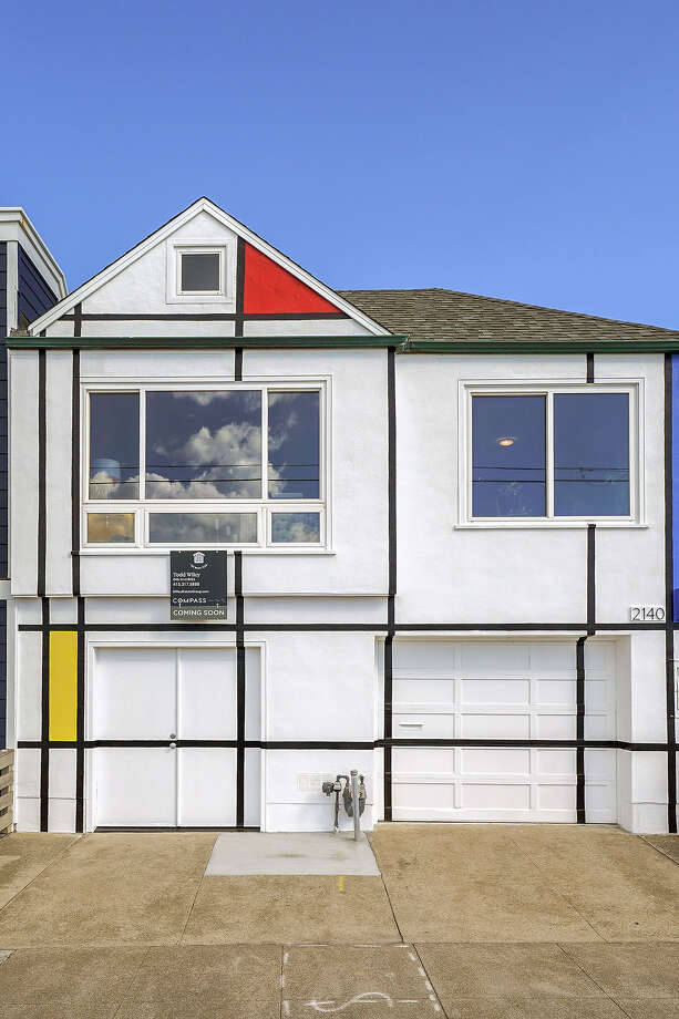 Do you know this house? If you've driven San Francisco's Great Highway you might know it. The exterior paint job was inspired by the Dutch artist Piet Mondrian. The home at 2140 Great Highway is listed for $1.495 million. Photo: 2140 Great Highway