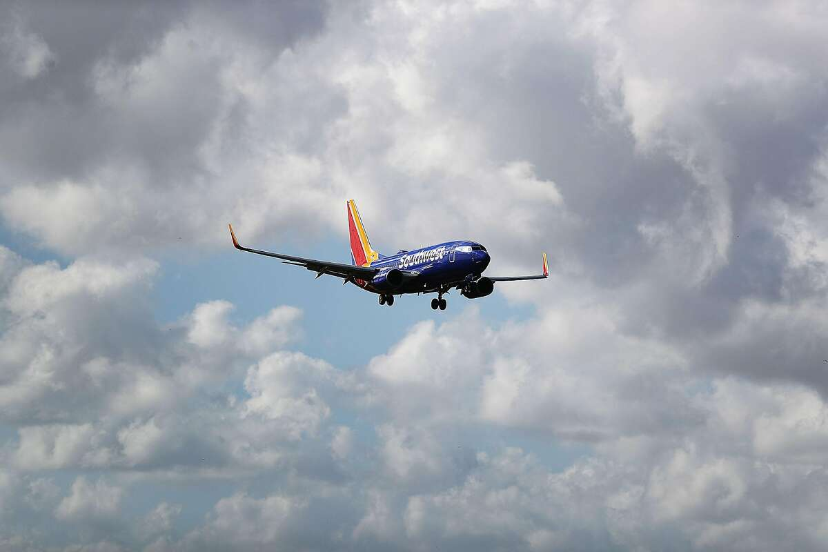 FORT LAUDERDALE, FLORIDA - FEBRUARY 20: A Southwest airlines plane prepares to land at Fort LauderdaleHollywood International Airport on February 20, 2019 in Fort Lauderdale, Florida. Southwest Airlines is reported to be investigating maintenance issues that have kept aircraft out of service and prompted flight cancellations possibly due to a dispute between the carrier and its mechanics' union. (Photo by Joe Raedle/Getty Images)
