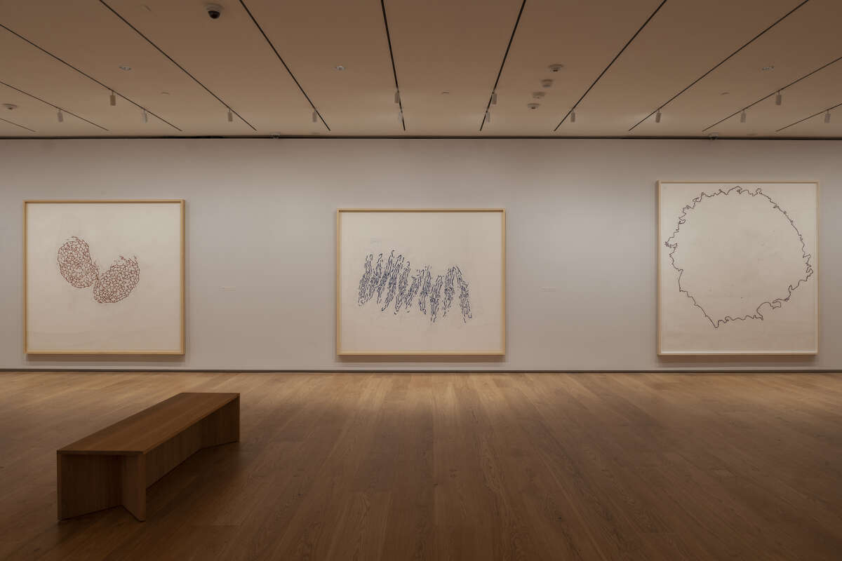 """Part one of """"Roni Horn: When I Breathe, I Draw"""" is on view through May 5 at the Menil Drawing Institute."""