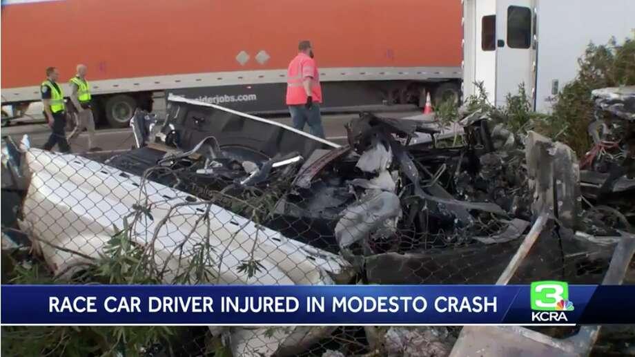 Race car driver Tanner Thorson injured in fiery Modesto crash - SFGate