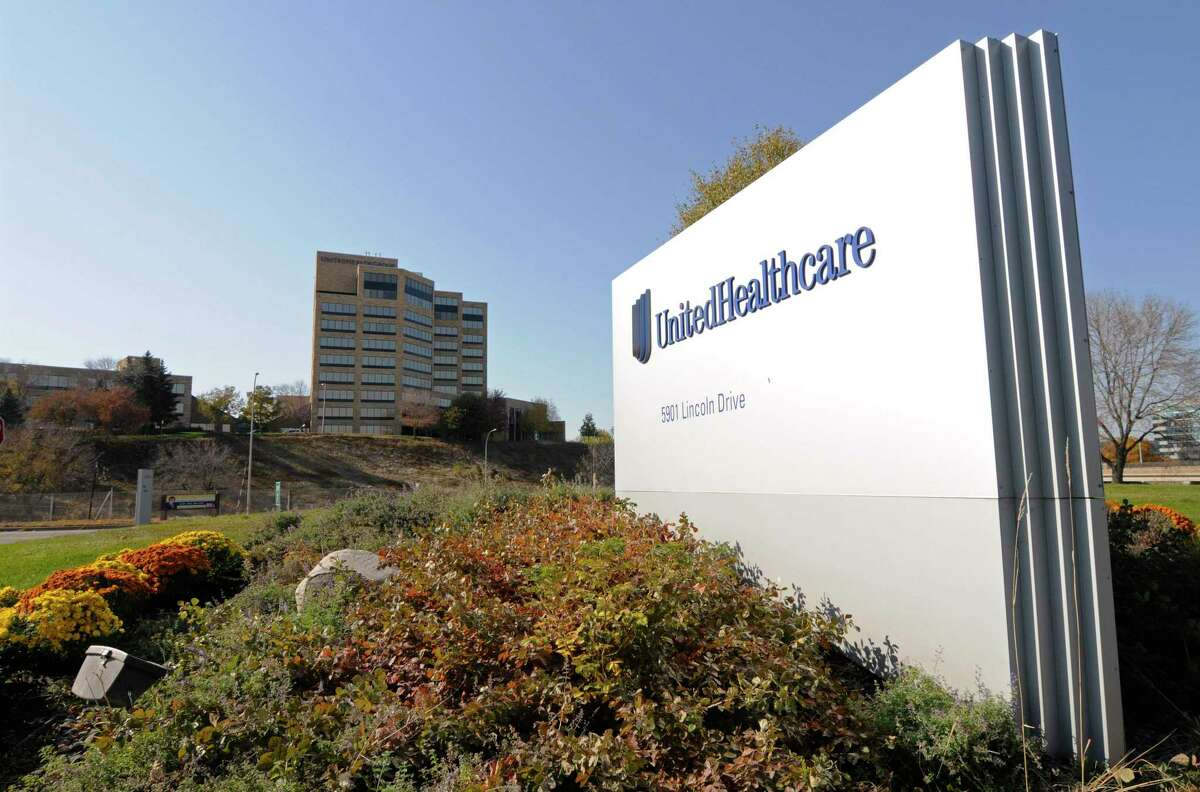 FILE - This Tuesday, Oct. 16, 2012, file photo, shows a portion of the UnitedHealth Group Inc.'s campus in Minnetonka, Minn. UnitedHealth Group reports financial results Tuesday, Jan. 15, 2019. (AP Photo/Jim Mone, File)