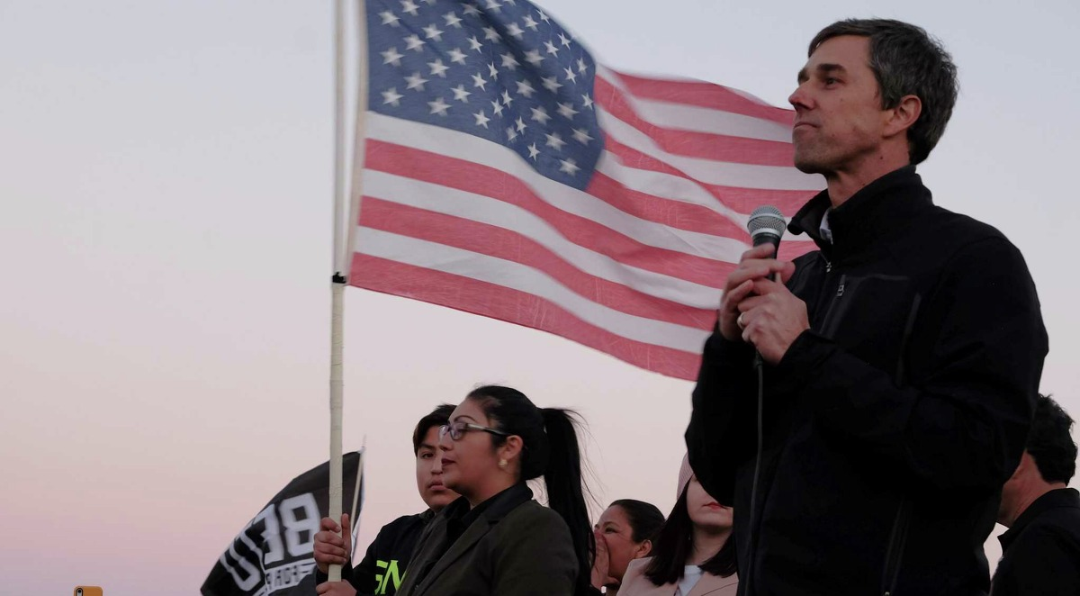 Beto O'Rourke, the former Democratic congressman who is now considering a presidential run in 2020, speaks at a protest rally in El Paso, Texas, Feb. 11, 2019. O'Rourke said he would make an announcement