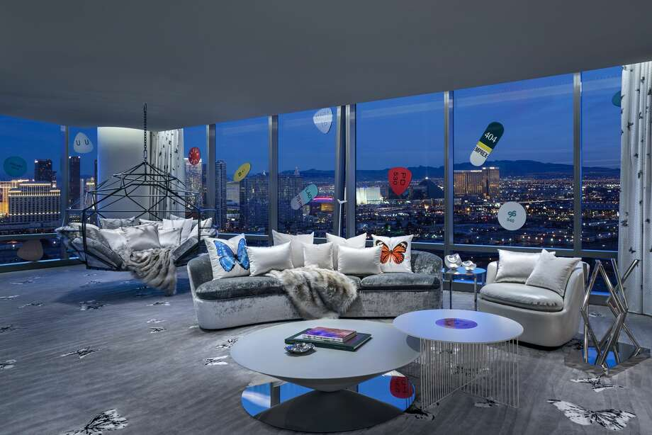 For $100,000 per night, guests can stay in the 9,000-square-foot, two-story villa named the 'Empathy Suite' designed by British artist Damien Hirst. Photo: Clint Jenkins On Behalf Of Palms Casino Resort